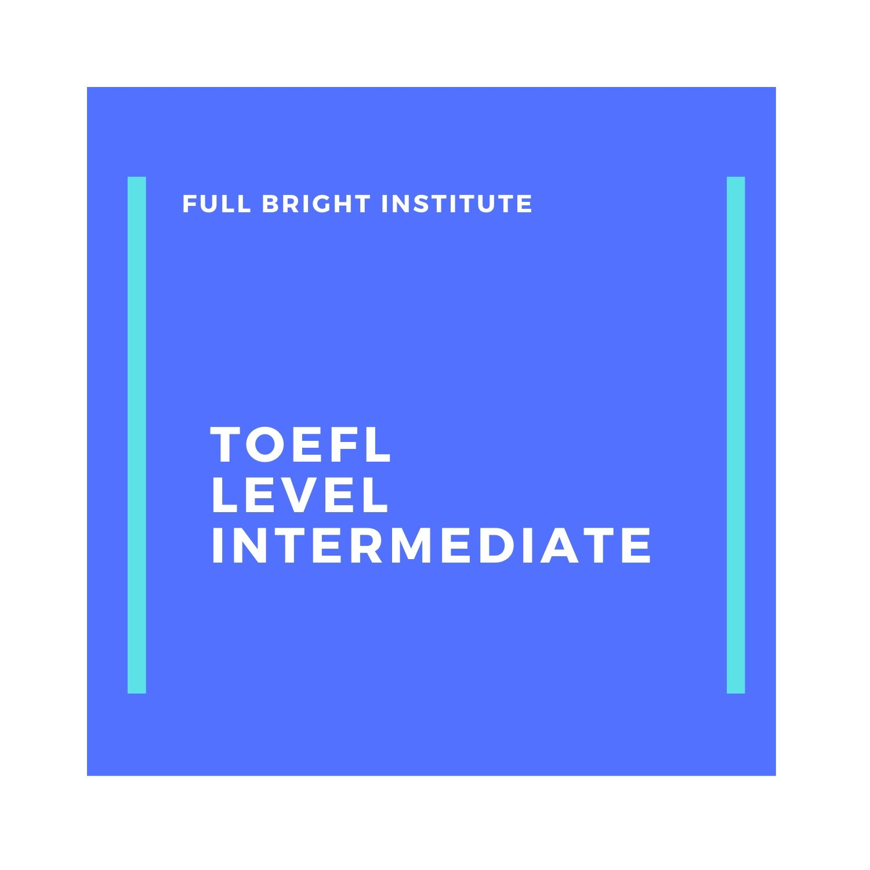 E-Course TOEFL Level Intermediate Paket Trial